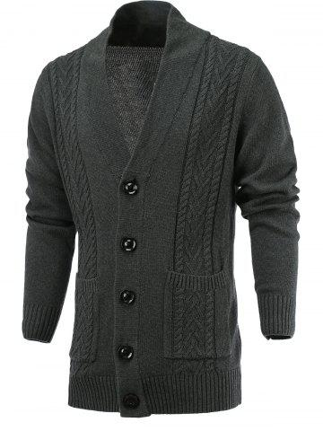 Sale Single Breast Loose Fittting Cardigan