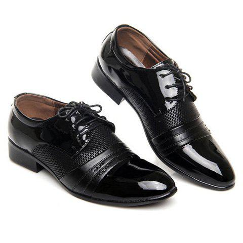 Discount Hollow Out Lace Up Formal Shoes - 43 BROWN Mobile