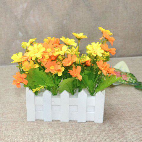 Store A Set of Stockade Pot Fake Orchid Artificial Flower