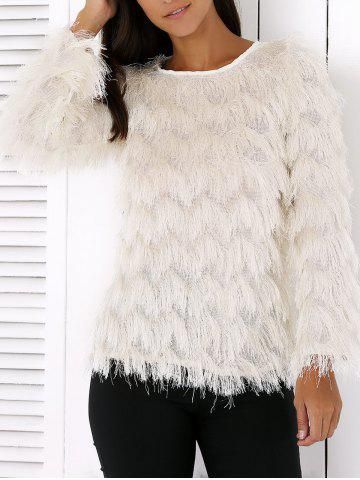 Outfit Wavy Fringed Design Pullover Sweater
