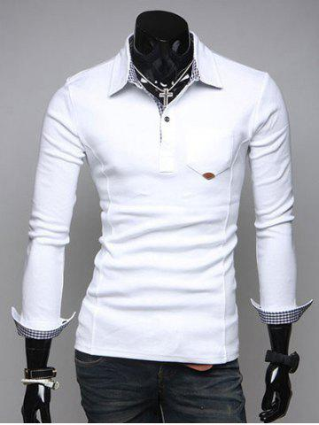 Outfits Turn-Down Collar Long Sleeve Polo Shirt