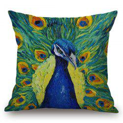 Vivid Peacock Painting Pillow Case -