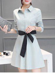 A Line Long Sleeve Shirt Work Dress