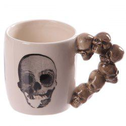 Drinkware Coffee Skull Hand Shank Ceramic Mug