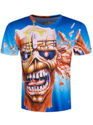 Short Sleeve Skull Pattern Cool T-Shirt