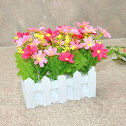 A Set of Stockade Pot Fake Orchid Artificial Flower - PINK