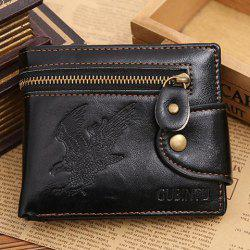 Faux Leather Bi Fold Wallet