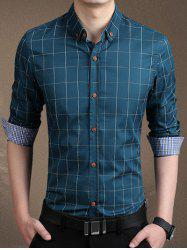 Plaid Long Sleeve Button-Down Shirt