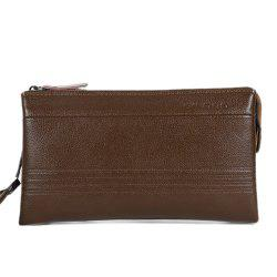 Casual Dark Color and Stitching Design Wallet For Men -