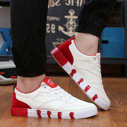 Stylish Splicing and Lace-Up Design Canvas Shoes For Men -