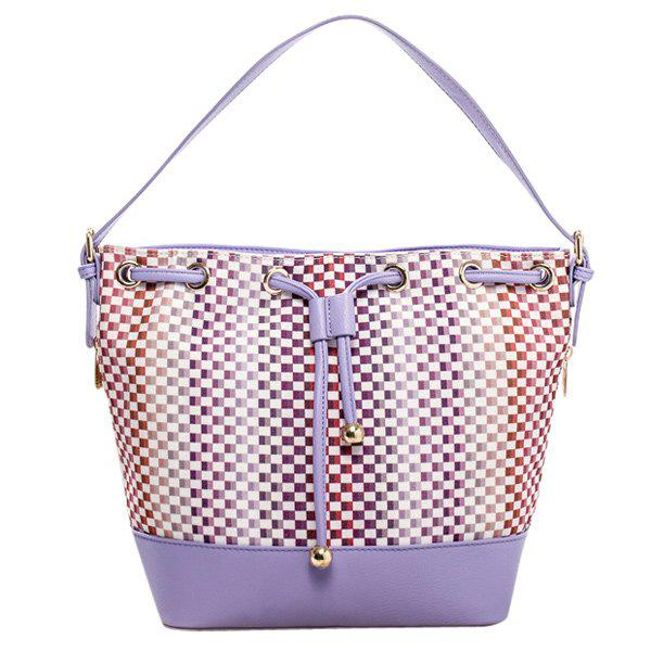 Shop Trendy Tiny Plaid and Splicing Design Shoulder Bag For Women