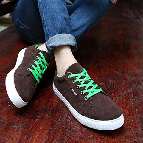 Shop Sports Style Lace-Up and Suede Design Casual Shoes For Men