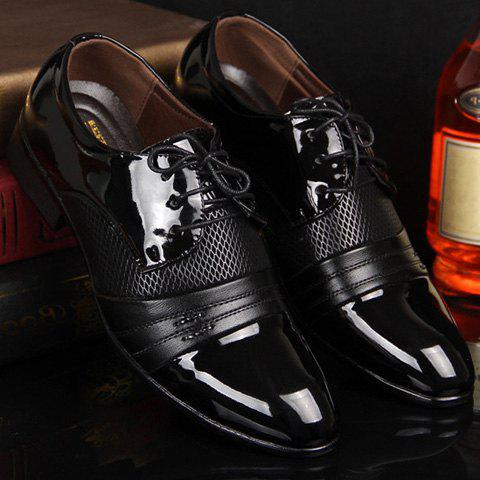 Trendy Hollow Out Lace Up Formal Shoes