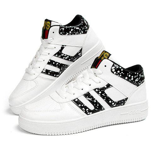 Shops Stylish Mid Top and Spot Print Design Athletic Shoes For Men