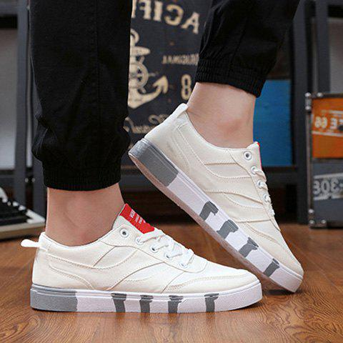 Best Stylish Splicing and Lace-Up Design Canvas Shoes For Men