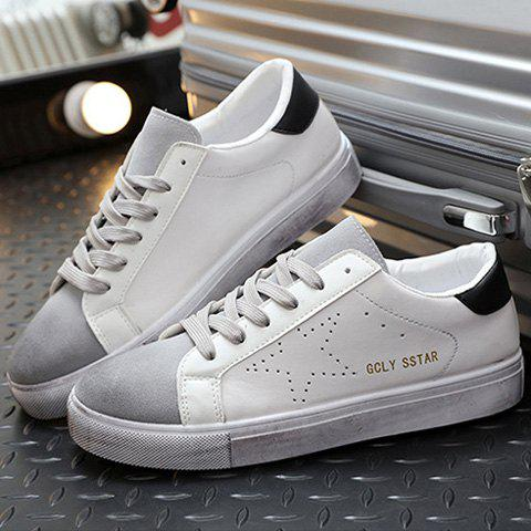 Unique Fashionable Star and Splicing Design Casual Shoes For Men
