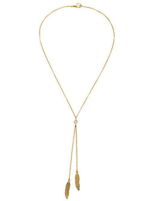 Trendy Bohemian Style Gold Plated Leaf Bolo Necklace