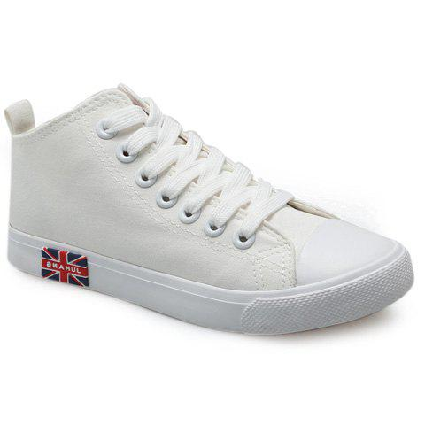 Hot Casual Solid Color and Mid Top Design Canvas Shoes For Women