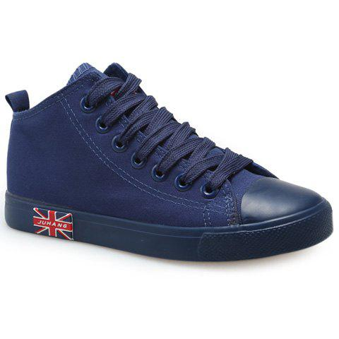 Shop Casual Solid Color and Mid Top Design Canvas Shoes For Women
