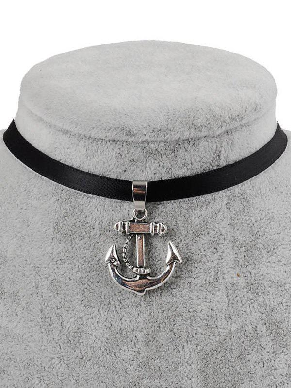 Latest PU Leather Anchor Pendant Choker