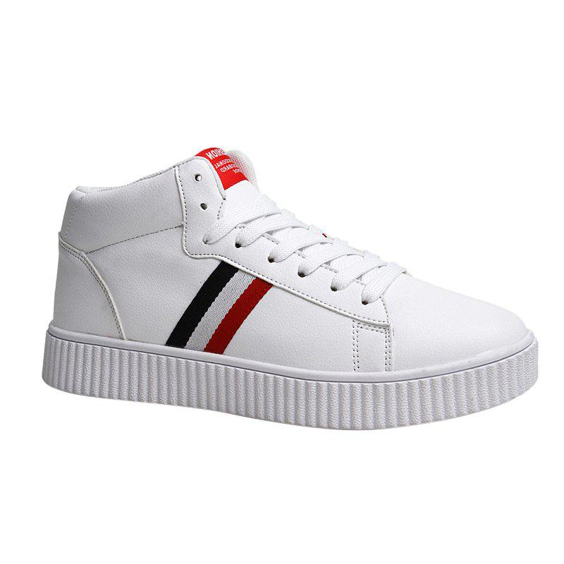 Affordable Stripe Casual High-top Sneakers