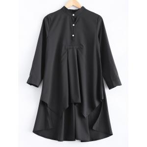 Loose-Fitting Asymmetric Buttoned Blouse
