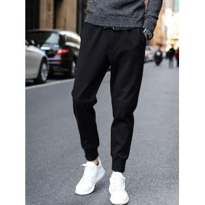 Drawstring Waist Pockets Design Jogger Pants