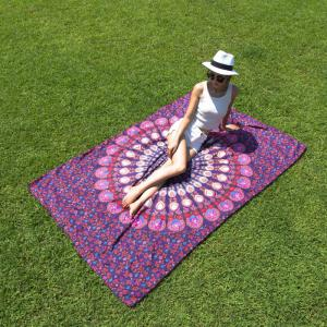 Seductive Mandala Yoga Mat Gypsy Cotton Tablecloth Beach Throw Shawl Wrap Scarf -