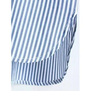Striped Pocket Design Boyfriend Shirt -
