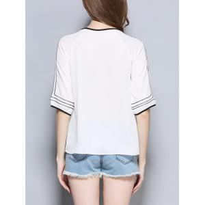 Casual 1/2 Sleeve Loose-Fitting Chiffon Blouse -