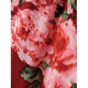 Floral Blossom Hollow Out Blouse -