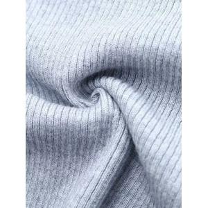 Round Neck Slimming Solid Color Knitwear - GRAY S