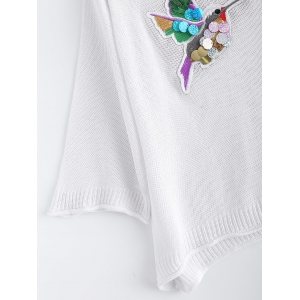 Bird Embroidered Sequined Knitwear -