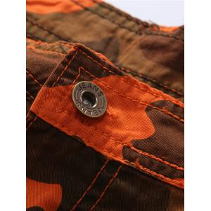 Zipper Fly Multi Pockets Camouflage Cargo Shorts -