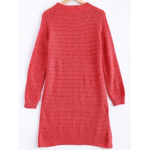 Solid Color Loose-Fitting Knitted Dress -