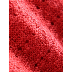 Solid Color Loose-Fitting Knitted Dress - WATERMELON RED ONE SIZE