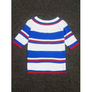 Color Block Striped Knitted Sweater -
