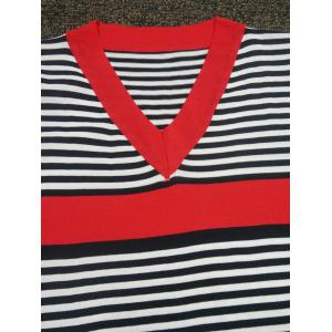 Bell Sleeves Color Block Striped Dress -
