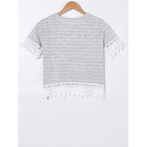 Crochet Short Sleeve T-Shirt -