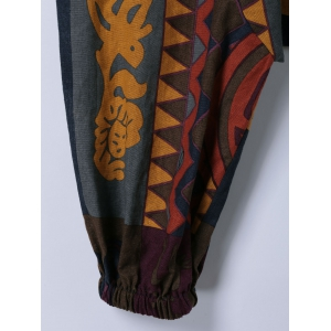 Trendy Tribal Print Cross-Pants -