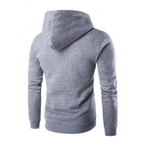 Ethnic Style Printed Long Sleeves Hoodie - LIGHT GRAY 2XL