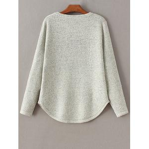 Round Collar Lips and Letter Jacquard Sweater -