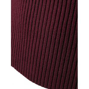 Pure Color Round Neck Stretchy Knitwear - WINE RED ONE SIZE