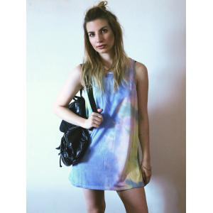 Casual Round Neck Sleeveless Tie Dye Women's Dress -