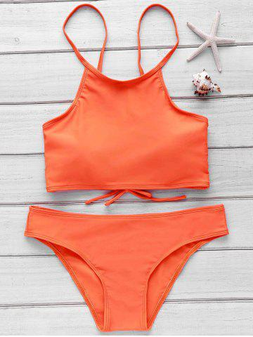 Fashion Stylish Cami Orange Women's Bikini Set