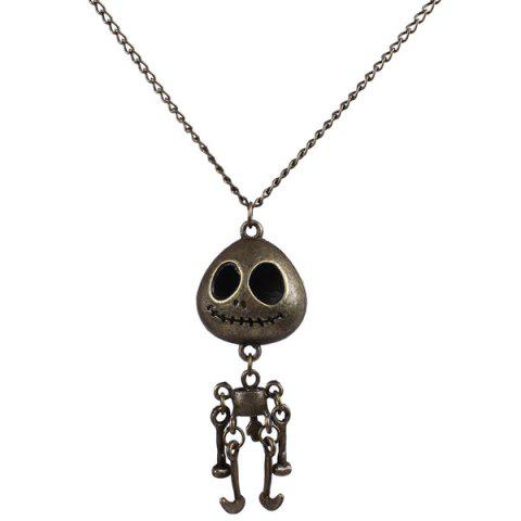 Sale Carving Skull Robot Sweater Chain