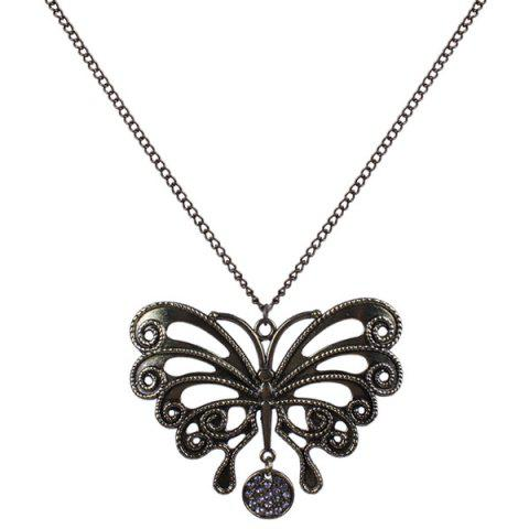 Chic Rhinestone Hollow Out Butterfly Sweater Chain
