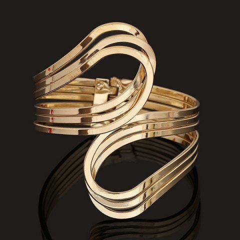Outfits Multilayer Encircle Statement Cuff Bracelet GOLDEN