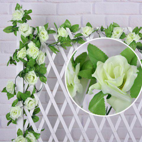 Wedding Party Wall Decor Faux Rose Rattan Fleur artificielle Blanc