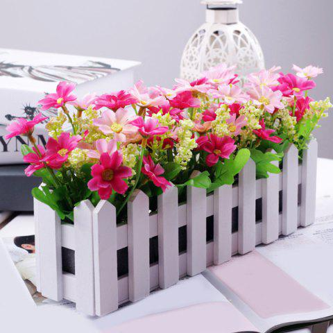 Trendy Home Decor 30CM Stockade Pot Bonsai Artificial Flower Set PINK